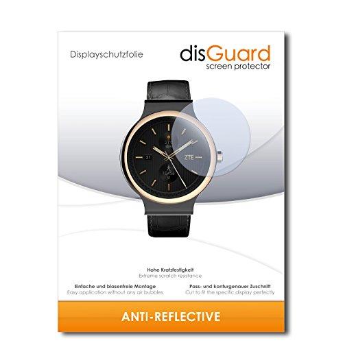 disGuard Displayschutzfolie für ZTE Axon Watch [2 Stück] Anti-Reflex, MATT, Entspiegelnd, Extrem Kratzfest, Anti-Fingerabdruck - Displayschutz, Schutzfolie, Panzerfolie