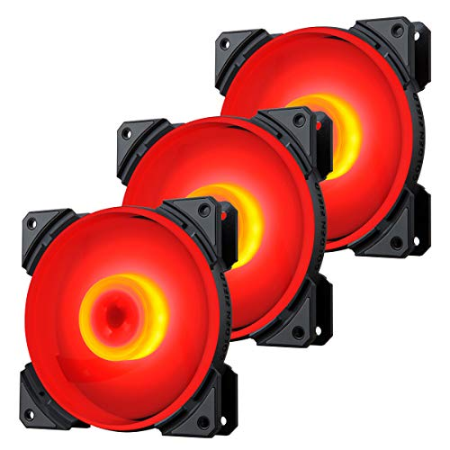 GOLDEN FIELD MH - Ventilador para PC (120 mm, silencioso, LED, RGB, para ordenador y CPU (3 unidades)