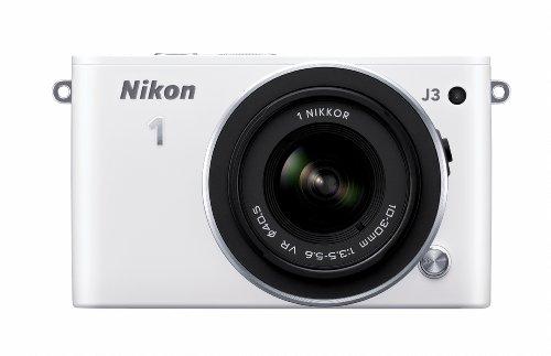 Nikon 1 J3 14.2 MP HD Digital Camera System with 10-30mm VR and 30-110mm VR 1 NIKKOR Lenses (White)