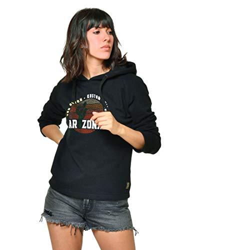 Von Dutch - Sudadera con capucha y brillantes para mujer, color negro