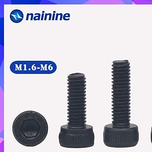 DIN912 M1.6-M16 Zwart Zeer sterk 12,9 gelegeerd staal Schroef Zeskant inbusschroeven HW024,14mm, M2.5 (50 stuks)