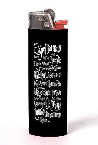 Magic Sorcery Spells Quotes Design Print Image 2 Pack Vinyl Decal Wrap Skin Stickers by Trendy Accessories for Bic Lighters
