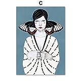 JHGJHK Exquisites abstraktes Poster Retro Schmetterling