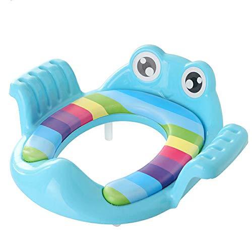 WZHIJUN Orinal Niño Grande Asiento del Baño Ajustable Almohadilla para el Pie Salpicaduras de Orina 3 Colores (Color : Blue)