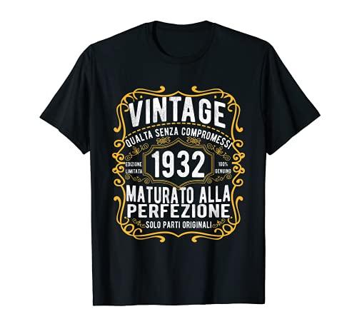 Vintage 1932 regalo divertente 89 anni compleanno Maglietta Maglietta
