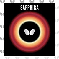 バタフライ Butterfly 卓球ラケット用ラバー サフィーラ 05540 裏ソフト ブラック アツ(1.8-2.1mm) [その他] [その他]