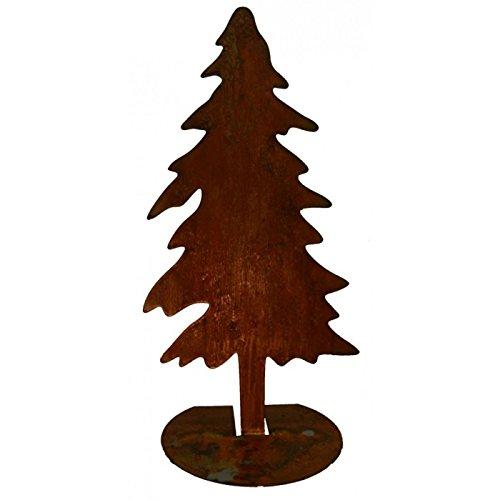 Radami Design 75cm Großer Tannenbaum Tanne Gartendekoration Rostiges Metall,Edelrost