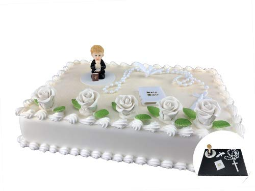 Cake Company Tortendeko Kommunion Junge | Kuchen und Torten schnell und einfach dekoriert