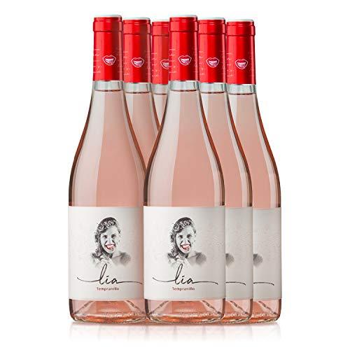 PRADOREY Lia - Vino rosado - 100{dcd73e1c148dae1ca4081ecf68bf67aa822687f59edb34885ff5f0afaf45f4ee} Tempranillo - Ribera del Duero - Vino natural de corta maceración con un punto de dulzor - 6 BotellaS - 0,75 L