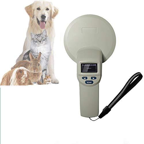 QHLJX Chiplesegerät für Tiere, RFID 134.2Khz ISO FDX-B Animal ID Mikrochip Scanner, RFID-Tierohrmarken-Erkenner, LCD-Anzeige, Zur Identifizierung des Tiermanagements