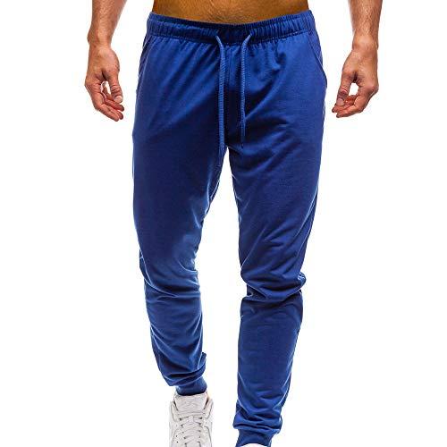 VPASS Pantalones para Hombre,Pantalones Casuales Moda Deportivos Color Sólido Pants Jogging Pantalon Fitness Gym Slim Fit Pantalones Largos Pantalones Ropa de Hombre Pantalones de Trekking