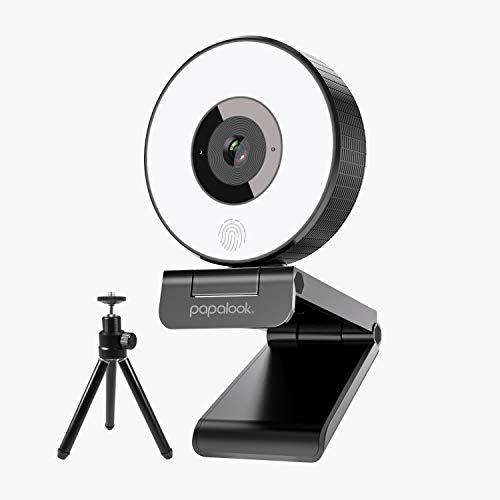 Webcam Streaming 1080P, PAPALOOK PA552 Live Gaming StreamCam PC con Anillo de...