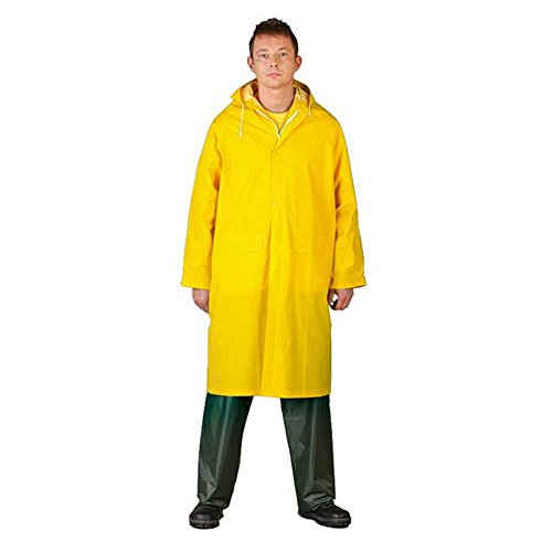 Veste imperméable en PVC - Jaune - Medium