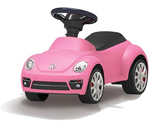 JAMARA 460406 Rutscher VW Beetle – Kippschutz, Hupe am Lenkrad, originalgetreue Optik, pink