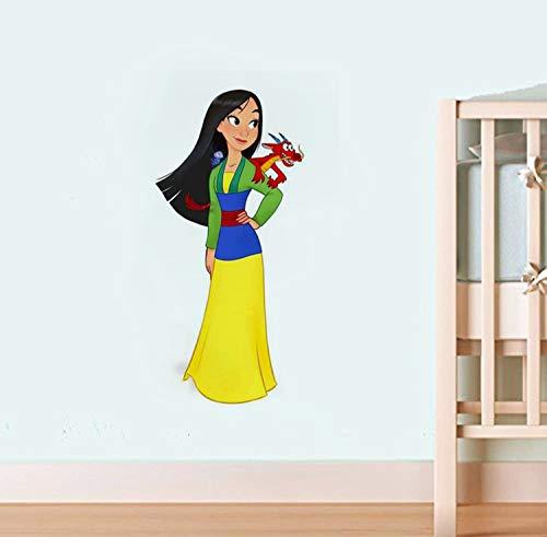 Heldinnen Helden im chinesischen Stil Prinzessin Fa Mulan & Mushu Applique Mulan Wand Vinyl Aufkleber Cartoon Walt Vinyl Poster Home Interior Decor Kinderzimmer Kunst Kindergarten Wand