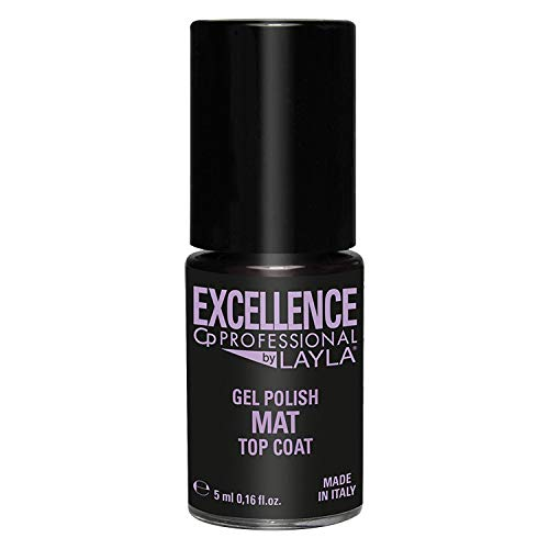 Excellence By Layla - Top Coat per Smalto Semipermanente Professionale - Fissa il Gel Semipermanente con Effetto Opaco - Formato da 5 ml