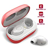 True Wireless Earbuds, Bluetooth 5.0 with Charging Case, 6H Playtime, Graphene Enhanced Sound