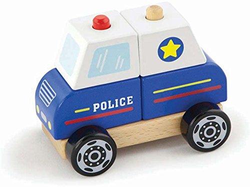 New Classic Toys - Maquette - Empilable - Voiture De Police - EmpilableMulticolore (Ref: 1926)
