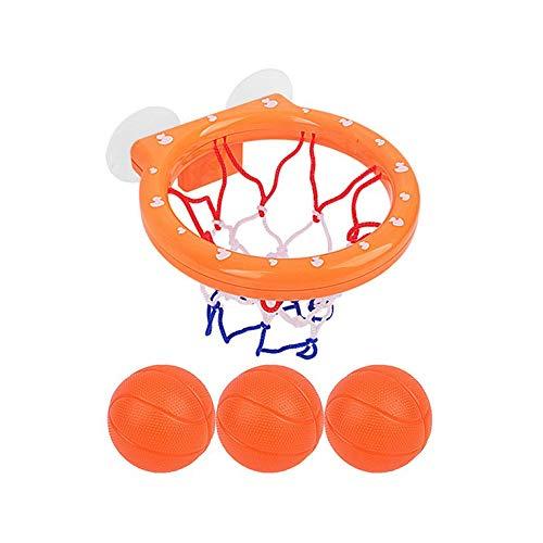 Kurphy Baby Bad Spielzeug Basketball Hoop 3 Bälle Spielgeräte für Kleinkinder mit Sauger Badewanne Schwimmbad Shooting Ball Spiel