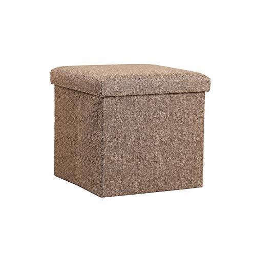 XINTU 1pc multifuncional plegable juguete plegable plegable taburete de almacenamiento de algodón y lino taburete de almacenamiento