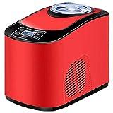 AYDQC Automatische Eiscreme-Maschine, Eiscreme- und Sorbet-Maschine, gefrorener Joghurt, Zuhause, Milch-Tee-Shop, kommerzielle Eismaschine-rot, Silber fengong (Color : Red)