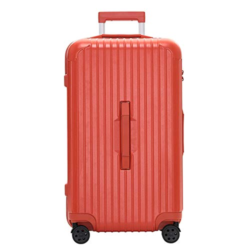 Thicken Luggage, ABS Sturdy Durable Lightweight Large Capacity with Spinner Wheels Suitcase for Tourism Vacation Storage-38x32x62cm-Orange