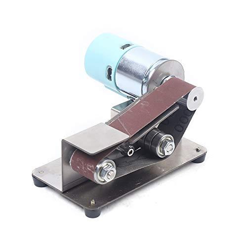 7 Gears Adjustable Stainless Steel DIY Mini Belt Sander Knife Apex Edge Sharpener Polishing Grinding Machine 330x30mm Belts Grinder 110-220v 100W best (895 motor)