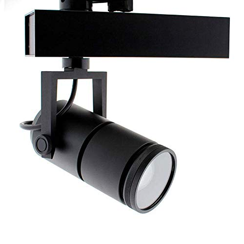 Foco carril TELESCOPIC CITIZEN LED, 28W, 10º-70º, negro, Regulable, Blanco frío, regulable