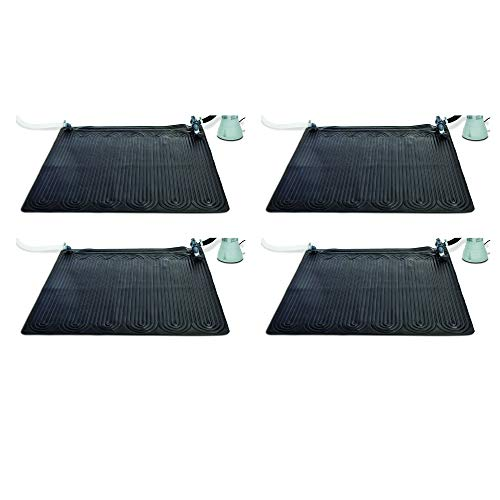Intex 28685E Solar Mat Above Ground Swimming Pool Water Heater for 8,000 GPH Pool, Black (4 Pack)