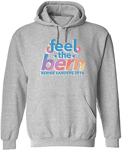 Feel The Bern Bernie Sanders 2016 Pullover Hoodie!, gris, XL