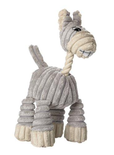 HUNTER HUGGLY DONKEY Hundespielzeug, Plüsch, Esel, 25 cm, grau