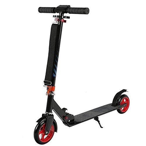 HUIXINLIANG Scooter para Adolescentes y Adultos  Scooter de 2 Ruedas con construcción de Aluminio Soldado y Plegable, Freno de pie Trasero, Scooter de Patada para Mayores de 12 años. (Color : Red)