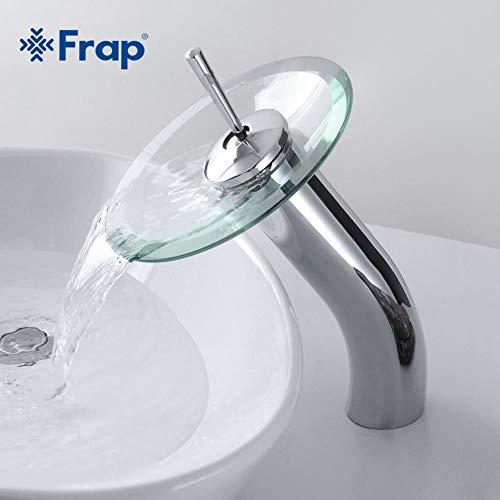 5151BuyWorld waterkraan, messing, cirkel, waterval, glazen badkamer-basin-mengkraan-waterval-kraan-bakje, chroom gepolijst einde 3 gratis verzending == > + chroom