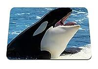 26cmx21cm マウスパッド (クジラのシャチの海) パターンカスタムの マウスパッド