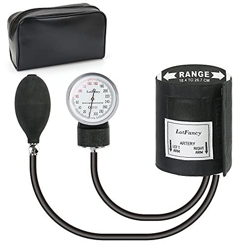 """Aneroid Sphygmomanometer by LotFancy, Pediatric BP Cuff (7.2""""-10.5""""), Manual Blood Pressure Cuff with Zipper Case, Child Cuff"""