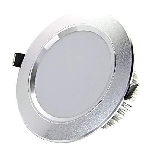 HGDH Iluminación Moderna LED Downlight Empotrado reequipamiento Luces de Techo del Accesorio del Barril Luz Panel de Hogares de la Luz (Color : White Light, Size : Openings 11-13cm)