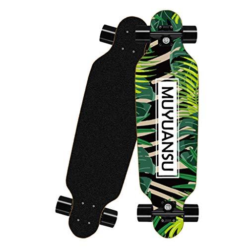 Hunpta@ Longboard Straßen Komplettboard Skateboards Kreativ Geschenk für Anfänger Jungen Mädchen Kinder Jugendliche Erwachsene Skateboard, 80 x 20 cm