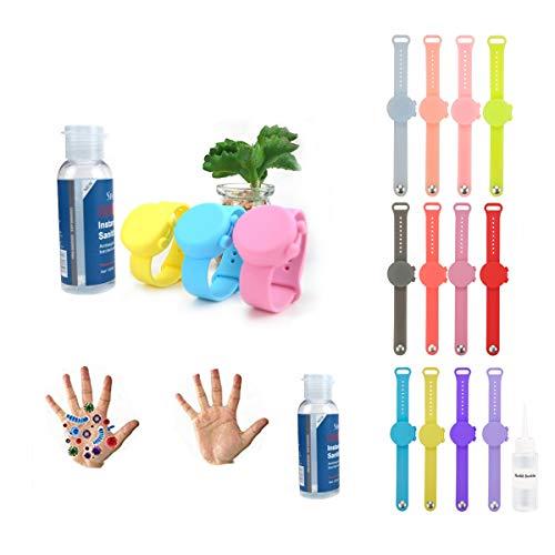 JINMIN - Braccialetto in silicone porta disinfettante o crema solare, morbido e confortevole da indossare, attrezzatura multifunzione da esterno per adulti e bambini