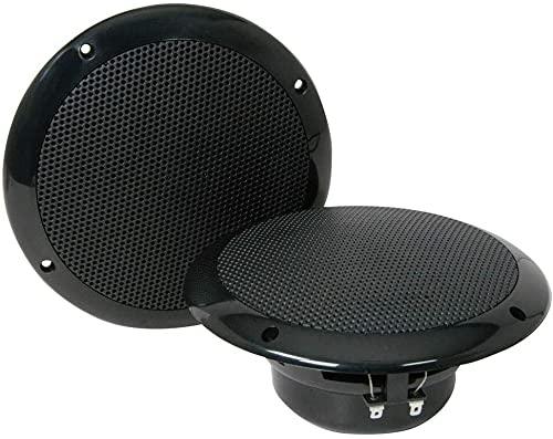 2 BASS FACE SPL6.2B altoparlanti diffusori doppio cono neri da 150 watt rms e 300 watt max a coppia di diametro 18,00 cm 180 mm 6,5  impermeabili soffitto piscina barca hotel bar pub, a coppia