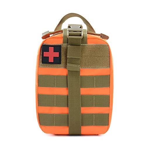 Niocase - Bolsa mdica de Supervivencia al Aire Libre, Resistente al Agua, Bolsa de Primeros Auxilios para Escalada y Acampada, Naranja