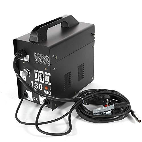 Trafo-Schweißgerät MIG130 Elektrodenschweißgerät Profi Elektroden Schweißmaschine 130A 230V inkl. Draht (Schwarz)