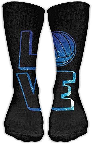 hgfyef Oberschenkel Hohe Socken Blaue Volleyball Liebe Kniestrümpfe 30cm Strümpfe