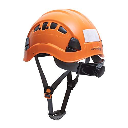 Defender Safety H1CH Safety Helmet Hard Hat ANSI Z891 for Construction Orange