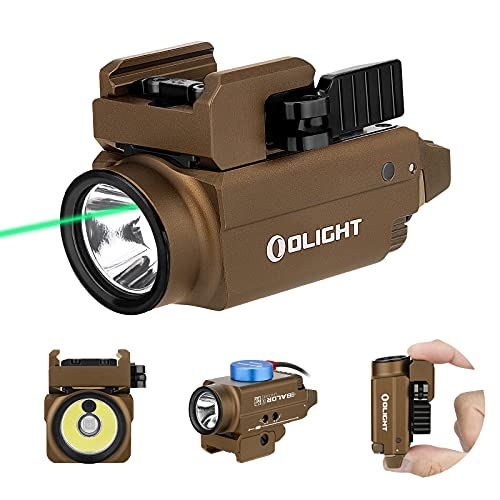 OLIGHT Baldr S 800 Lumens Compact Rail Mount Weaponlight with Green...