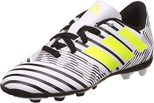 adidas Nemeziz 17.4 FxG J, Zapatillas de Fútbol para Niñas, Multicolor (FTWR White/Solar Yellow/Core Black), 38 2/3 EU