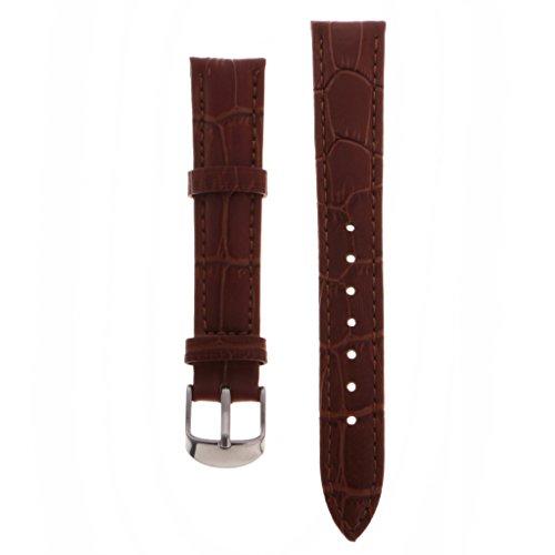 Cinturino in Pelle PU per Orologio Unisex - Marrone 16mm