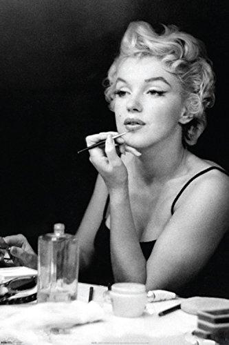 Marilyn Monroe Mirror Lipstick Make UP Poster New 24X36 Michigan