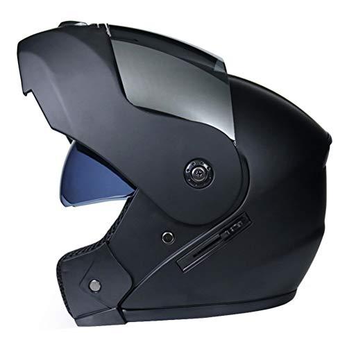 LucaSng Casco de Moto Integral con Doble Visera, Casco Moto Modular Casco de Moto Integral Scooter para Mujer Hombre Adultos Casco Integral para Motocicleta Cascosintegrales (Estilo#7, M)