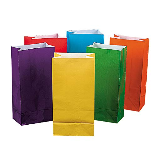 Bright Color Paper Bags for Party - Party Supplies - Bags - Paper Treat Bags - Party - 12 Pieces