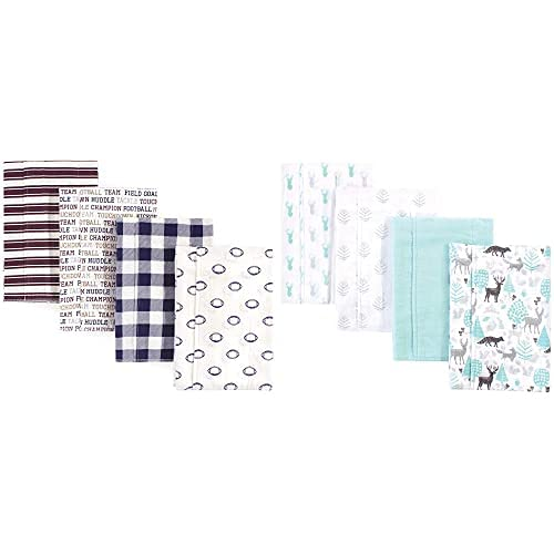 Spring new work one after another Hudson Baby Boy Cotton Flannel Linoc Burp 8-Pack Cloth Free shipping anywhere in the nation Football